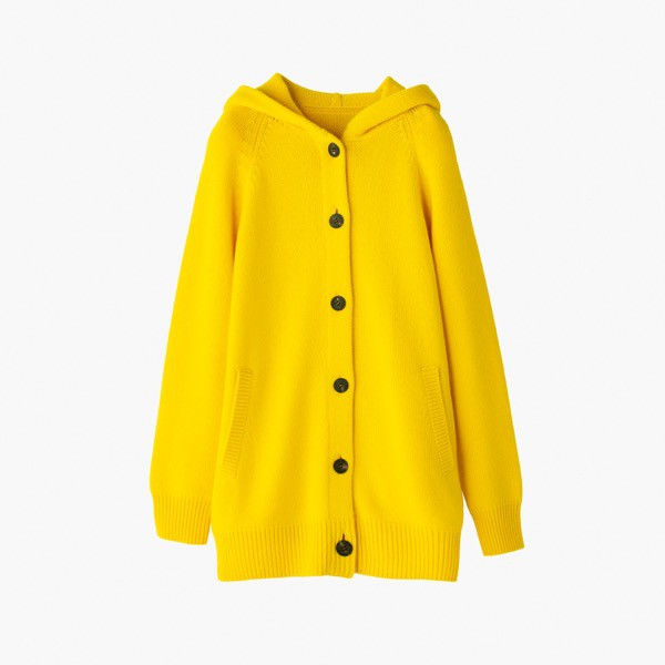"Knit ""Cashmere Half Coat"" (Yellow)"