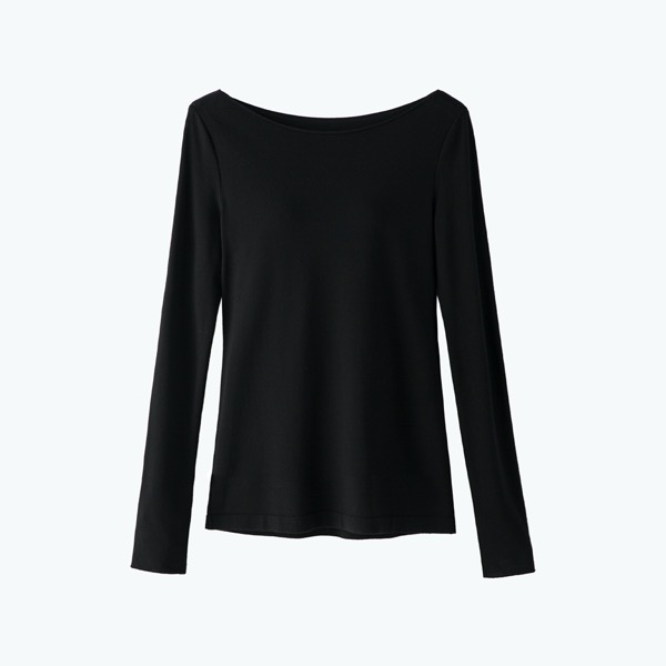 "Knit Top ""Prima Sode Coorde""(Black Black)"