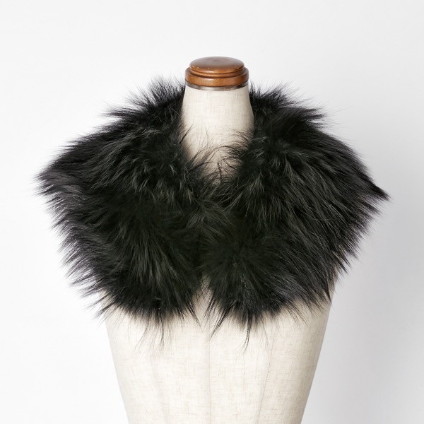 "Fur Collar ""KOGAO FOX"" (Black Black)"
