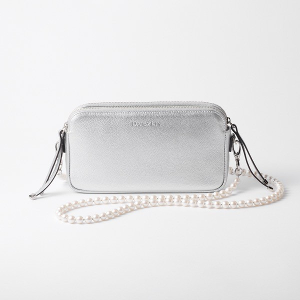 Grace Pearl Strap & PERFECT DAILY BAG SET (Silver)