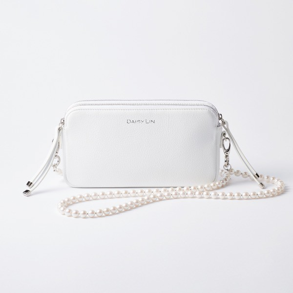 Grace Pearl Strap & PERFECT DAILY BAG SET (White)
